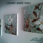 Láminas barnizadas sobre tabla