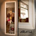 Espejo enmarcado Enmarcacion espejos blanca decapada Aratz Enmarcaciones Vitoria