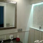 Espejo enmarcado Enmarcacion espejos plata baño Aratz Enmarcaciones Vitoria