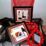 laminas enmarcadas  zapato tacon pintalabios ilustraciones femeninas aratz enmarcaciones