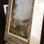 oleo enmarcado marco plata aratz enmarcaciones detalle